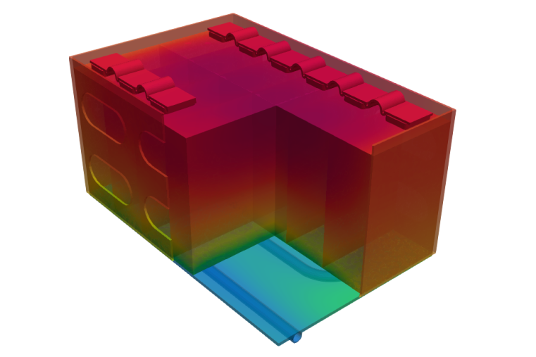 Does the simplification of the battery pack's geometry affect solution accuracy and simulation time?